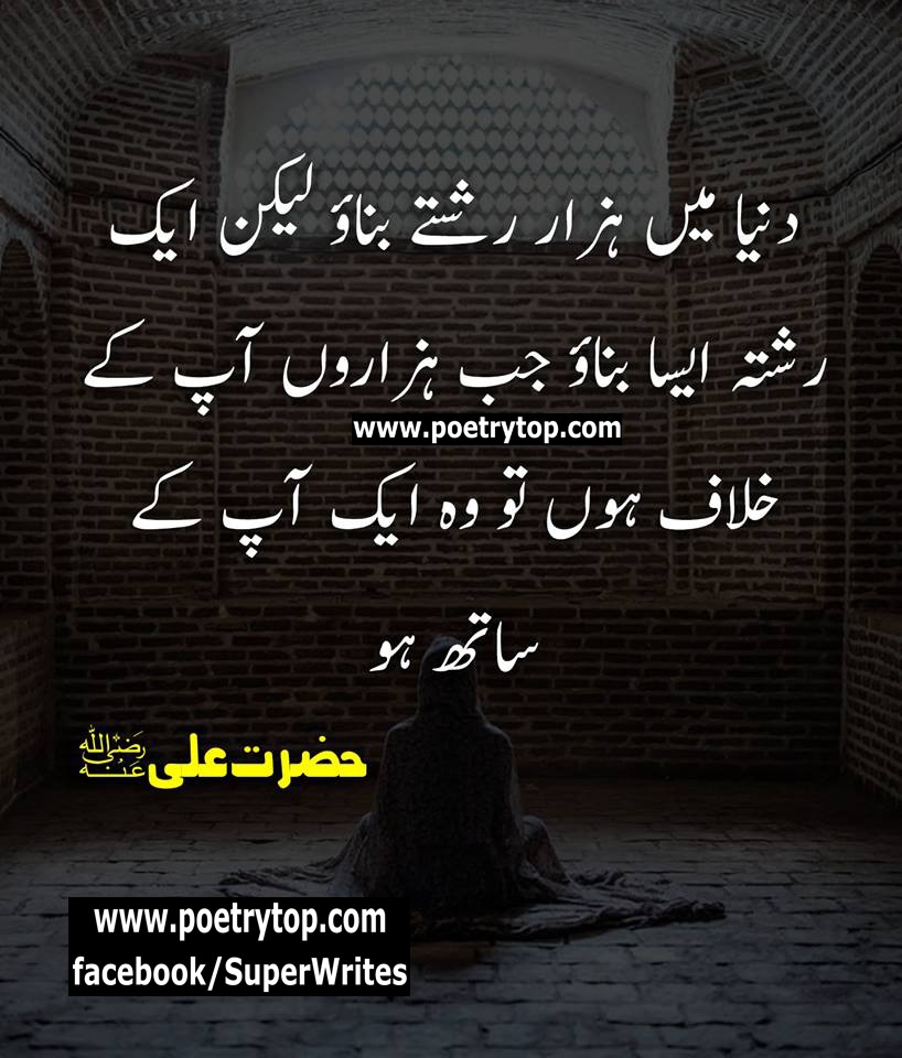 hazrat ali quotes in urdu text